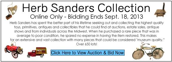 Sanders auction banner