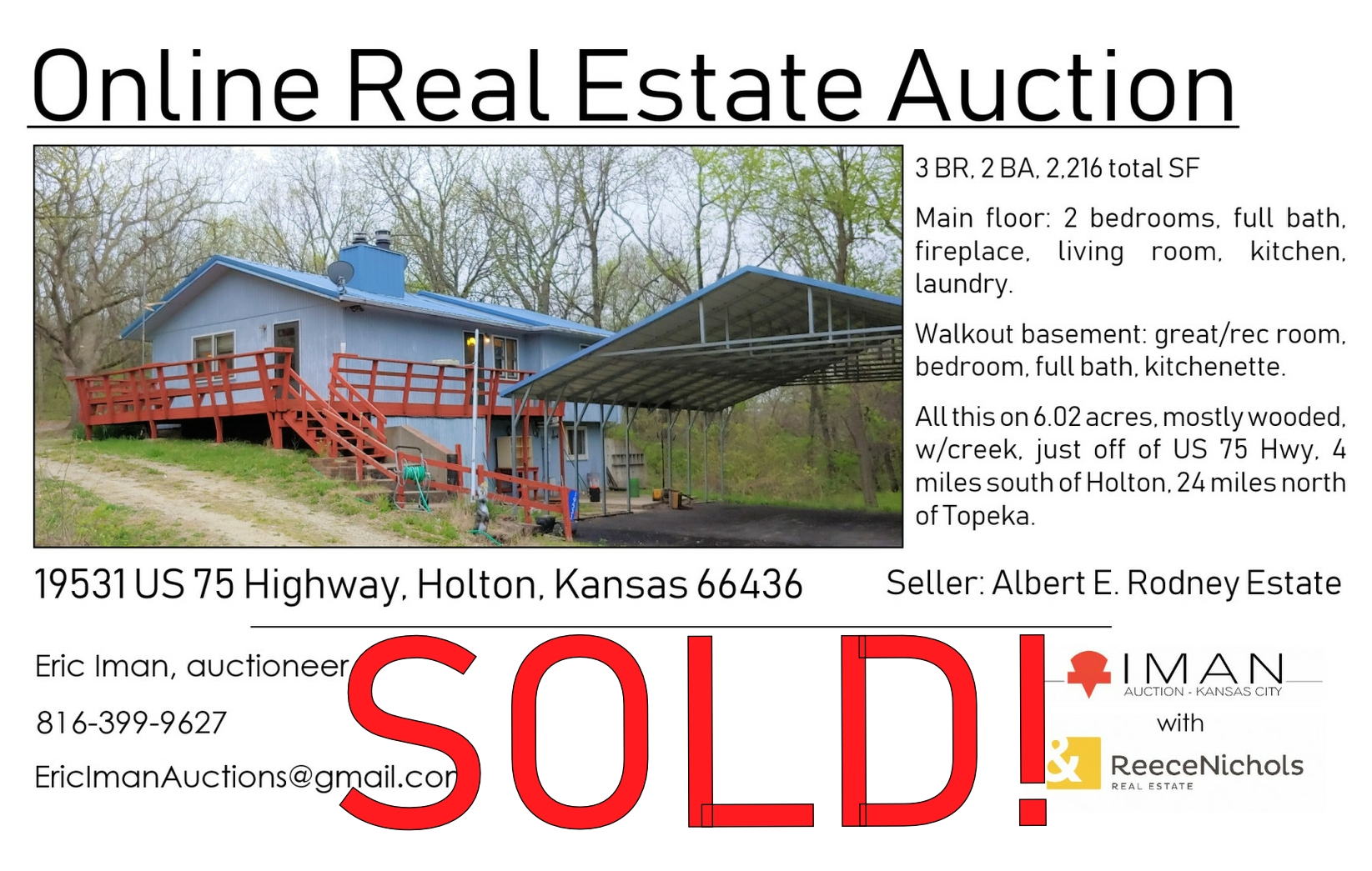 Holton KS RE Auction